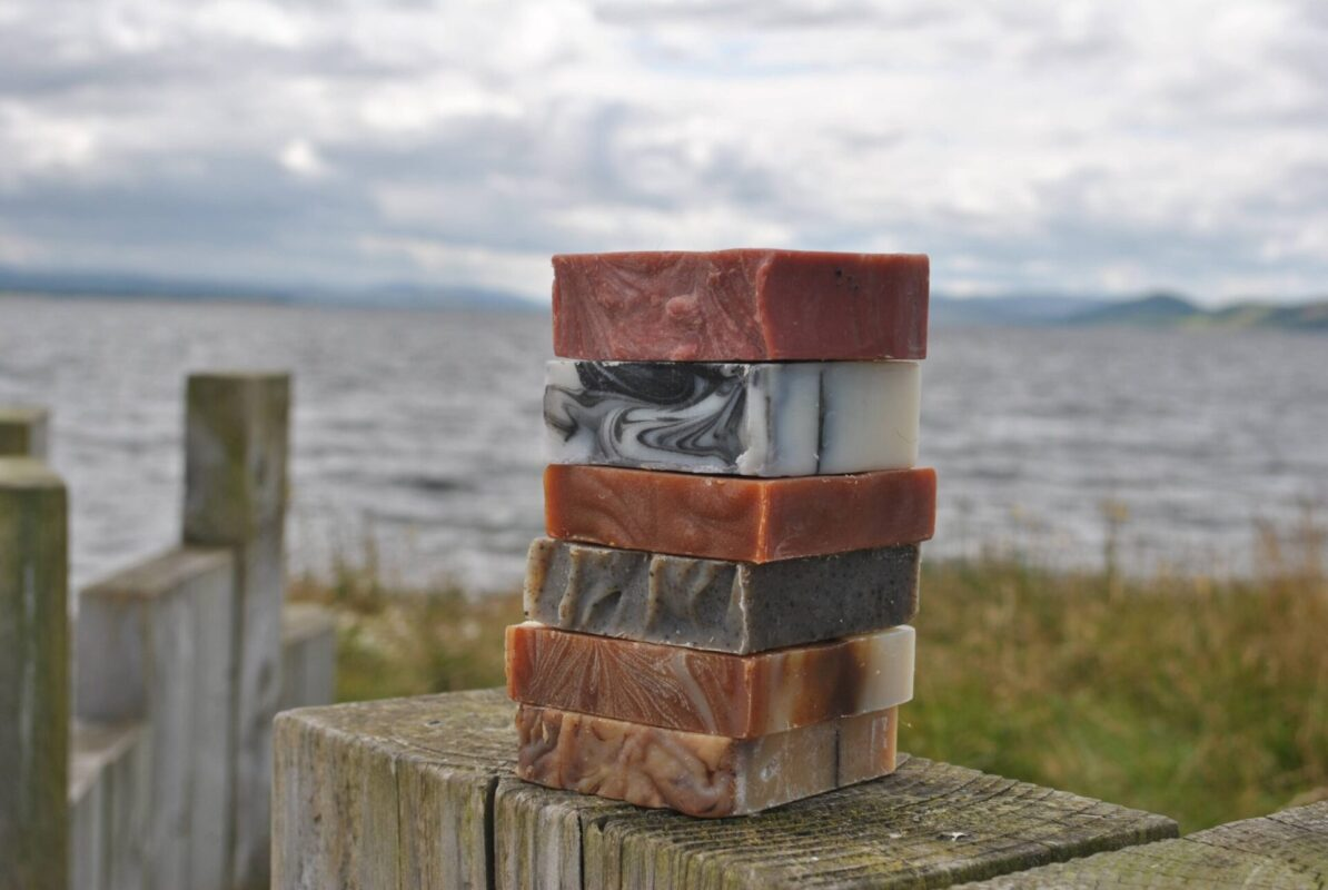 6 natural handmade soaps at Chanonry Point, Black Islei
